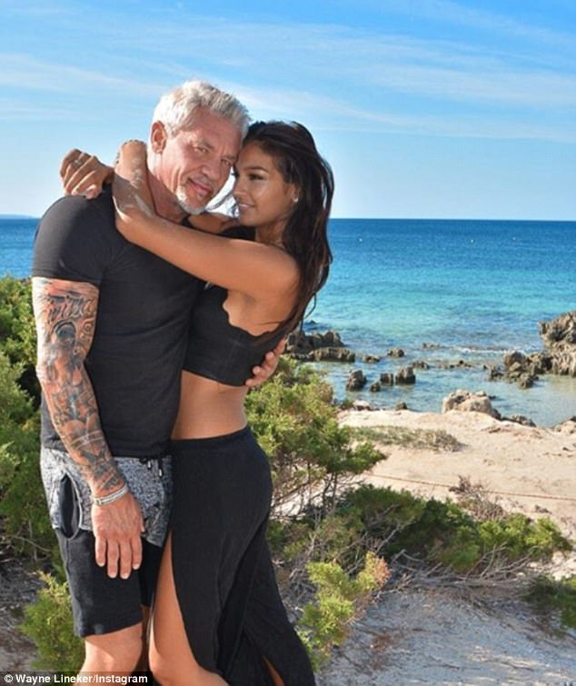 Wayne lineker With  Ex Girlfriend ir